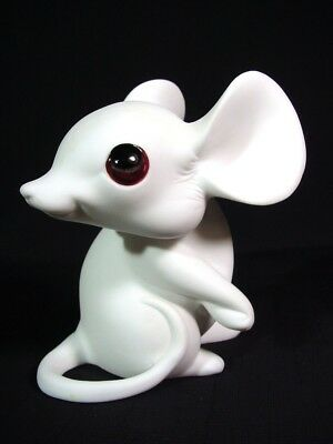 White Mouse Large Ears Adorable Turning Pose George Good by Freeman MacFarlin