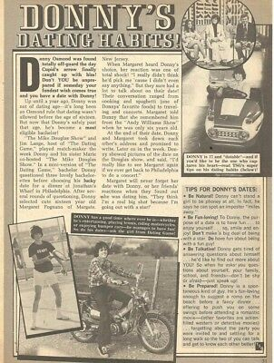 Donny Osmond, Osmond Brothers, Full Page Vintage Clipping, Osmonds
