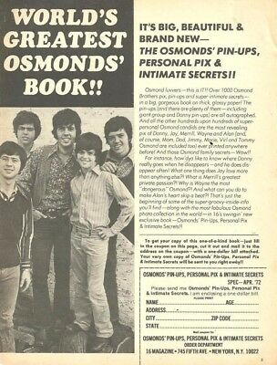 The Osmond Brothers, Full Page Vintage Clipping Ad, Osmonds, Donny