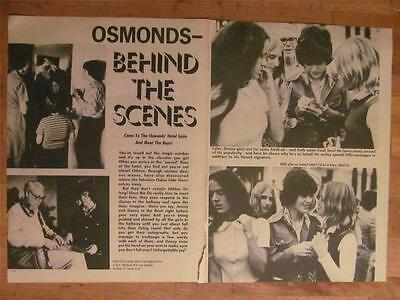 Donny Osmond and the Osmonds, Brothers, Two Page Vintage Clipping