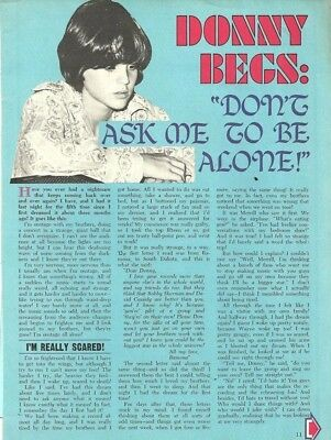 Donny Osmond Brothers, Full Page Vintage Clipping, Osmonds