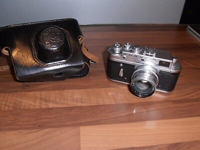 Vintage 1950's Russian Zorki 4 camera and case