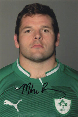 Mike Ross, Leinster & Ireland rugby union player, signed 6x4 inch photo. COA.
