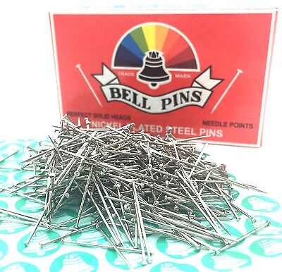 Bell Brand Steel Sewing Dressmaking Craft Pins Needle Point Rounded Head