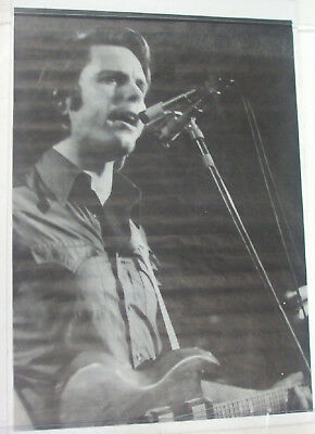 Vintage Bob Weir Grateful Dead Poster - 1970's Black and white poster - Unused