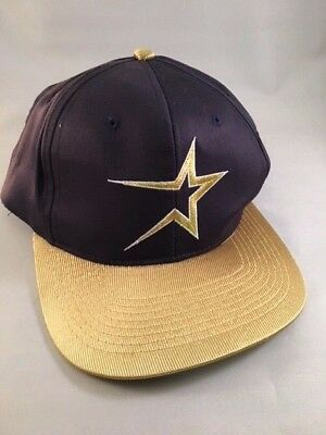 new concept 9cce2 d2bcc 1997 Houston Astros Gallery Furniture Gold and Navy Adjustable PROMO Cap Hat