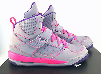 Details about Girls Nike Air Jordan Flight 45 High Cool Grey Pink 6.5Y Wmns 8 524864 029 retro