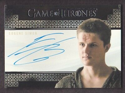 2017 Game of Thrones Valyrian Steel Autograph Eugene Simon as Lancel Lannister