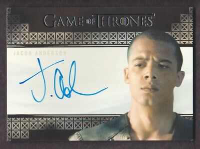 2017 Game of Thrones Valyrian Steel Autograph Jacob Anderson as Grey Worm