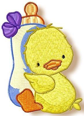 BABY BIRDY 10 MACHINE EMBROIDERY DESIGNS CD 2 SIZES 1 bonus design included