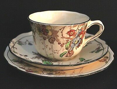 Made In England. Royal Doulton Trio. Kew Pattern. Cup, Saucer, Plate.