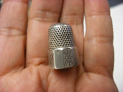 Antique Vintage Sewing Notion - Sewing Thimble Size 8 - No Sterling Mark