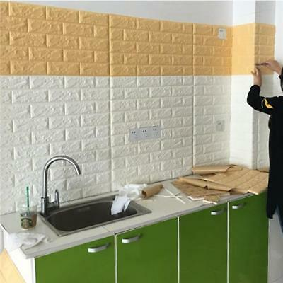 PE Foam Wall Stickers 3D Wall Paper DIY Home Decor Embossed Brick Stone Q