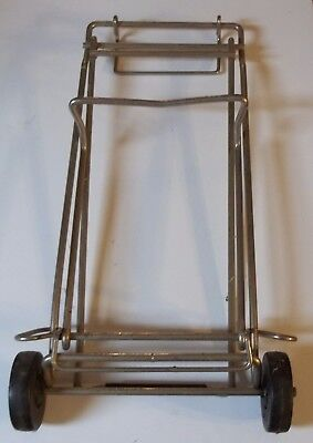 Folding SHOPPING/LUGGAGE Carrying Cart Chrome (Heavy Duty)