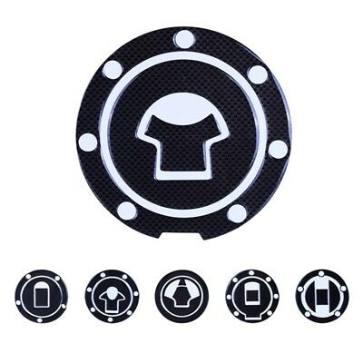 Motorcycle Tank Pad Carbon Fiber Gel Oil Gas Fuel Tank Protector Sticker Decal