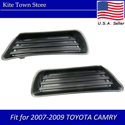 Pair of Fog Lamp Light Covers Right & Left Set For 2007 2008 2009 TOYOTA CAMRY