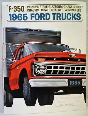 1965 Ford Trucks Division F-350 Model Advertising Sales Brochure Guide Vintage