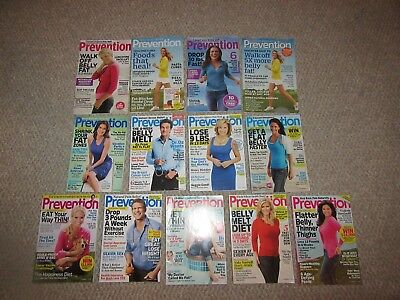 Lot of 13 Prevention Magazines Back Issues VGC Real Women Tested