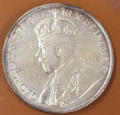 1916 Very Fine VF Canada Half 50 Cent Coin Canadian Fifty Cents Key Date