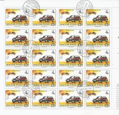 SH391 Wholesale Special 1986 4F Sheet of 20X Cars 1902 & 1985 Renaults