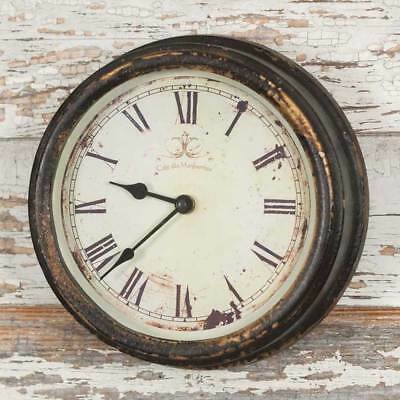 Distressed Vintage Style Country Decor French Cafe Advertising Wall Clock