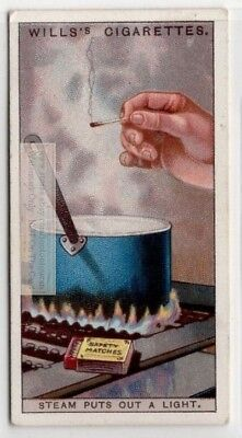 How Steam Vapors Extingush A Flame Fire 90+  Y/O Ad Trade Card