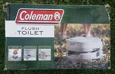Coleman Flush Toilet Outdoor Camping Gear Supplies Portable NEW