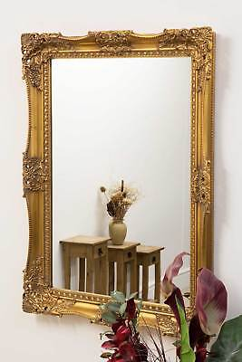 Large Antique Design Gold Very Ornate Big Wall Mirror 3Ft7 X 2Ft7 109cm X 78cm