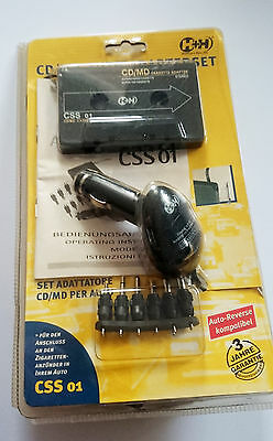 CD/MD-Auto Adapterset CSS 01 H+H Stereo-Cassettenadapter + 6 Adapterstecker OVP