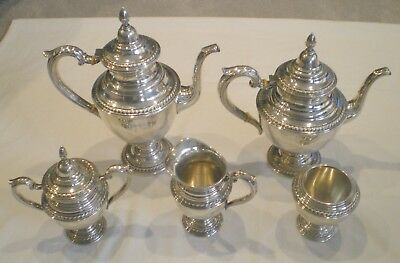 VTG Rogers Sterling Silver 6 Piece Coffee Service EUC