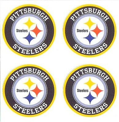 (4) Pittsburgh Steelers NFL Decals / Stickers *Free Shipping