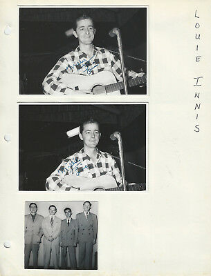 Louie Innis 4 Pages w/22 Photos Many Signed - Grand Ole Opry