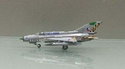 Herpa Wings 1/200 Czech Air Force Mikoyan MiG-21MF 554930 metal miniature