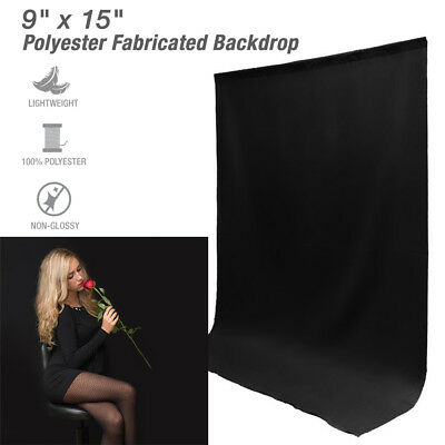 9 x 15 ft Black Muslin Backdrop Photography Photo Studio Screen Background