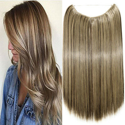 Hidden Halo Invisible Wire Hairpiece Secret Miracle Straight Hair Extensions WE3