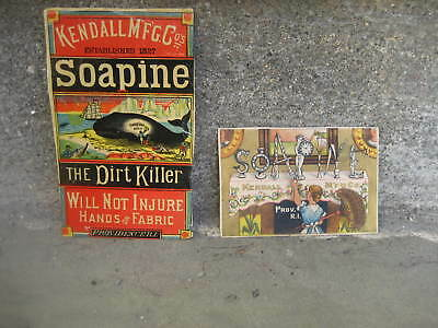 Victorian Soapine Trade Card and Whale Label...Providence, RI