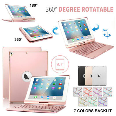 f82a7970103 360 Rotatable Bluetooth Keyboard Case for iPad 5th/6th Gen & Pro 9.7 Air 1