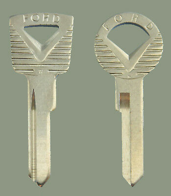 Set of 2 Vintage Ford Emblem Ignition & Trunk Key Blanks ~ Courier Sedan ~ Uncut