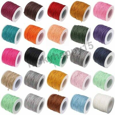 100 Yards 1mm Waxed Cord Beading DIY Jewellery Making Macrame Thread String Wire