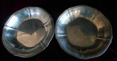 "PAIR, 10"" Arthur Stone Associates Sterling Silver Bowls Hand Wrought Ca.1921-27"