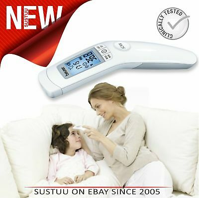 Beurer FT90 Non Contact Infrared Clinicalaly Safe Thermometer│LCD│Fever Alarm│