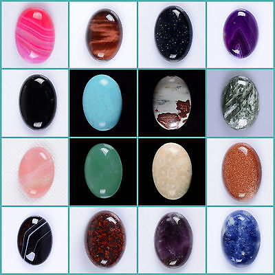 Wholesale 25mm Oval cabochon CAB flatback semi-precious gemstone Save $ in bulk
