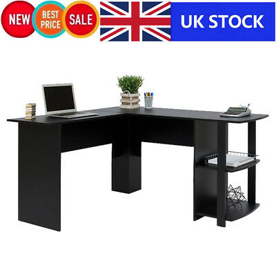 Utility Wooden Office Computer Writing Desk Home Gaming PC Furnitur Corner Table