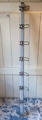 Vintage French Industrial Style Coat Hooks, Mid Century Factory/School (919)