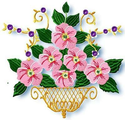 DOGWOOD ROSE 15 MACHINE EMBROIDERY DESIGNS CD mixed sizes