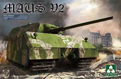 Takom (三花) 1/35 WWII German Super Heavy Tank Maus V2 #2050 *New release*