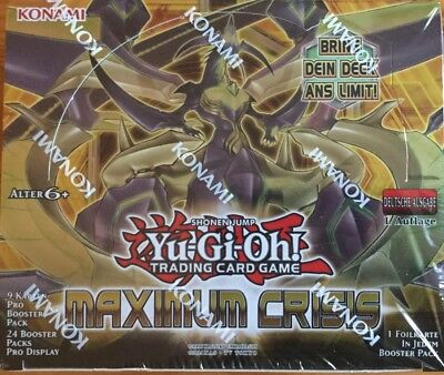 Yugioh - 6 Booster Maximum Crisis  1.Auflage in deutsch NEU/OVP