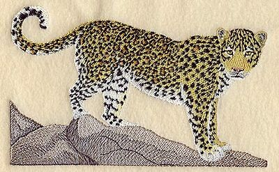 Embroidered Short-Sleeved T-Shirt - Leopard M2124 Sizes S - XXL