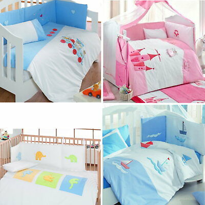 Luxury Embroidered Nursery Baby Bedding Duvet Blanket Cot Bed Quilt Or Bumper
