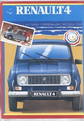 1980 Renault 4 4TL 4GPL 4GTL Brochure Poster French wy8575